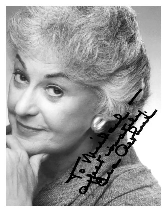 BEA ARTHUR autographed to Michael