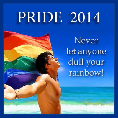 PRIDE 2014 - Never Let Anyone Dull Your Rainbow - GAYTWOGETHER - click to enlarge