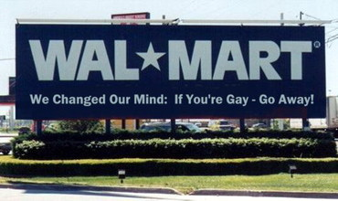 Wal-Mart Changes Mind: Says No To Gay Rights
